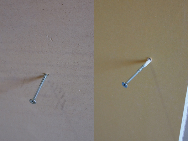合板と石膏ボードの比較-ビス