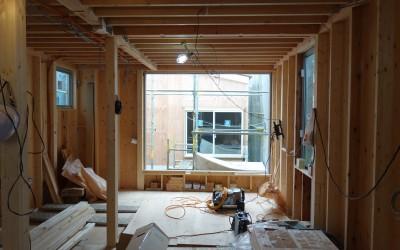 本駒込の新築住宅の現況(12月)