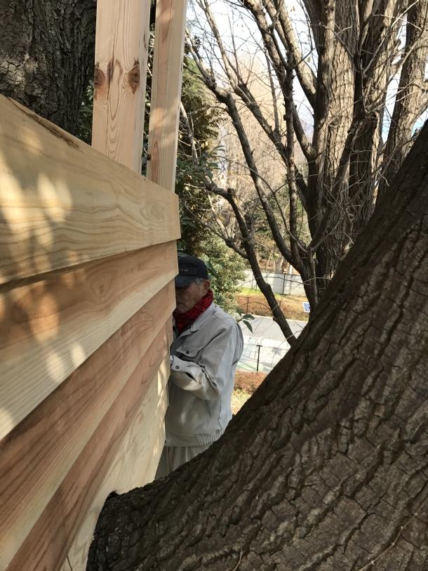 杉板の外壁
