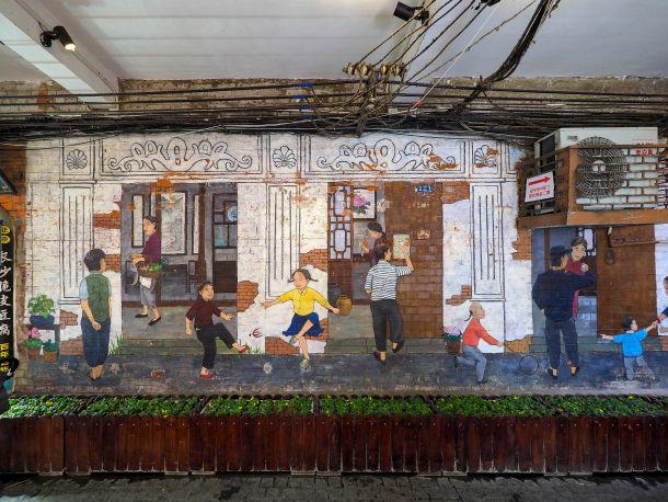 田子坊の壁画
