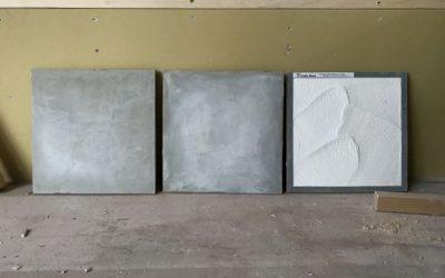 意図的に白華させる壁仕上げ&ラワンの天井