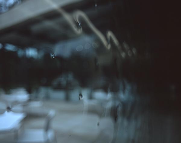庭園美術館 中廊下のガラスディテール