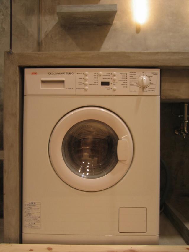 洗濯機はカウンター下に