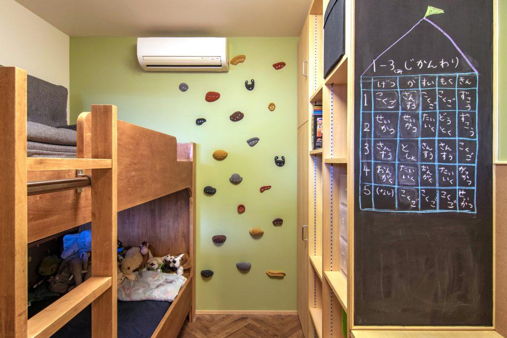 子ども室の2段ベッド