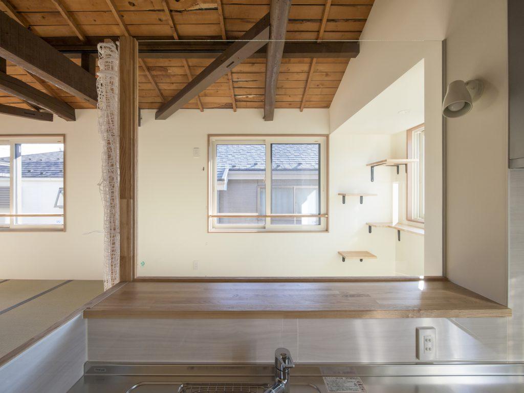 戸建てリノベーション キッチンからの眺め