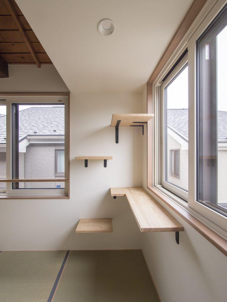 戸建てリノベーション 猫用階段