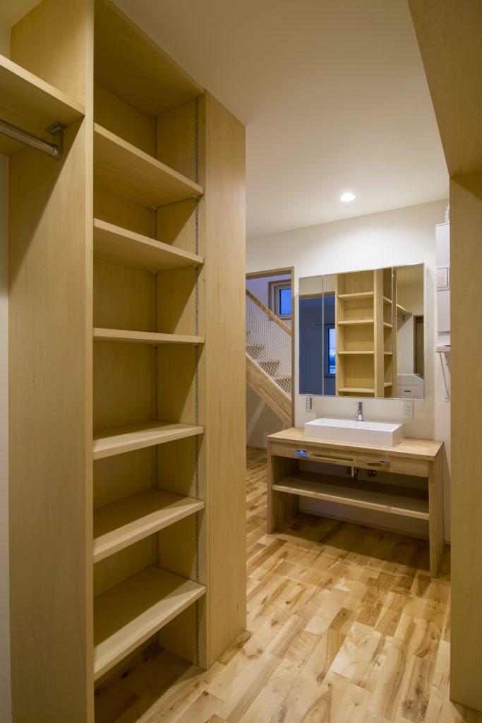 戸建てリノベーション 洗面脱衣室