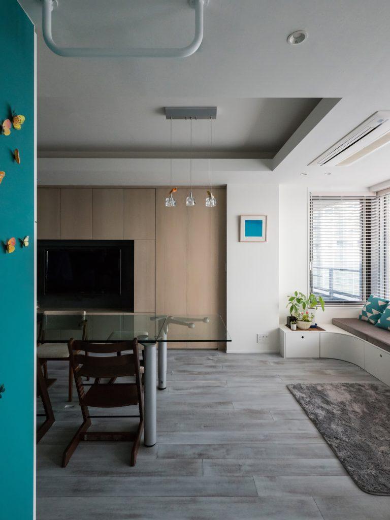 港区のマンションリノベーション ベンチと家具