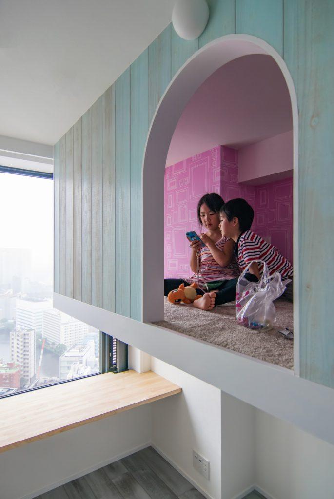 港区のマンションリノベーション 吊りベッド