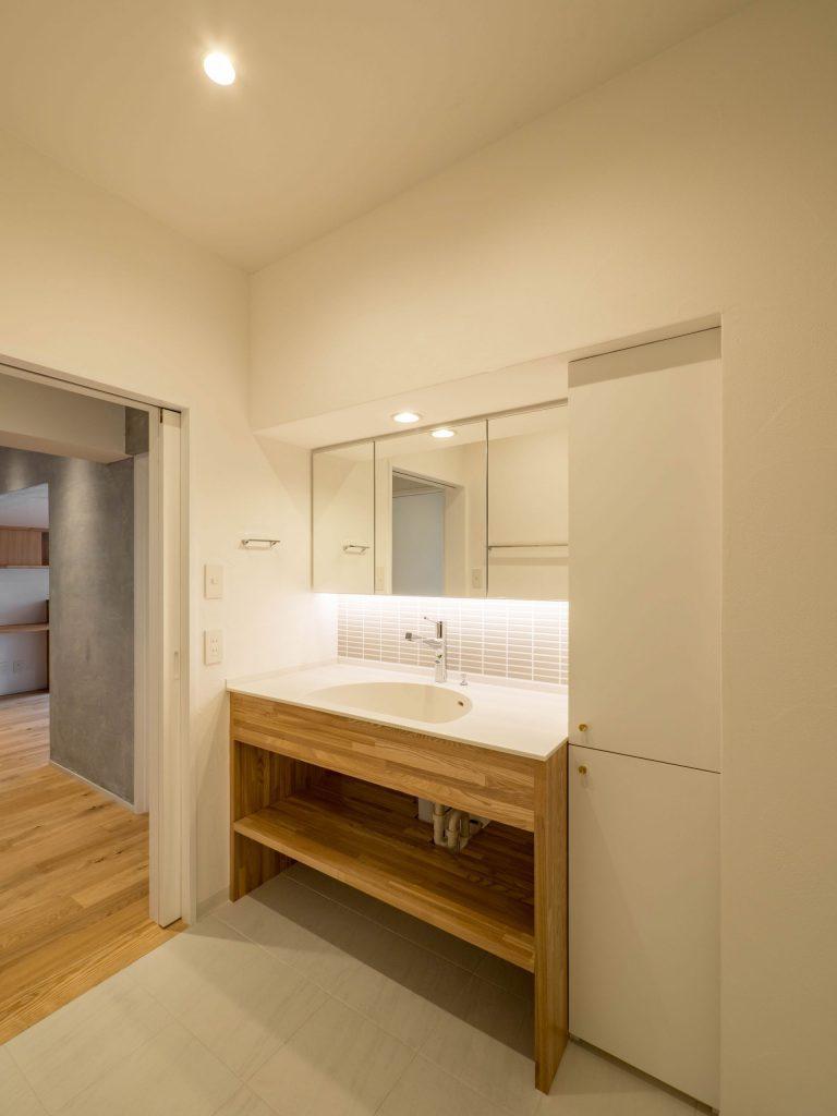 壁孔の家 洗面所