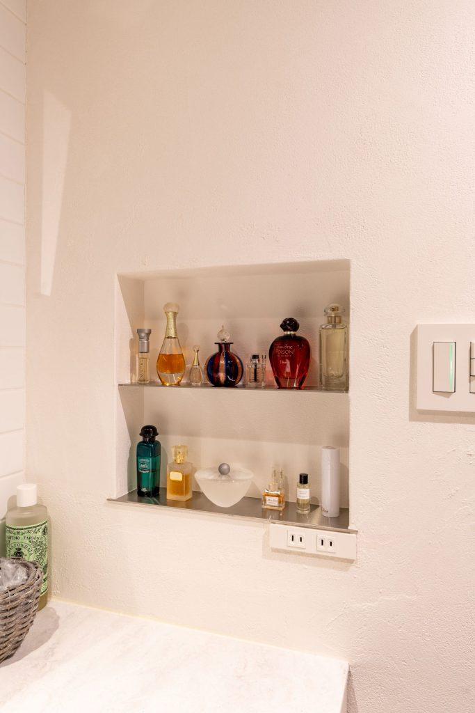 洗面室のニッチ
