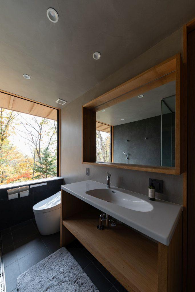 メインバスルームの洗面台