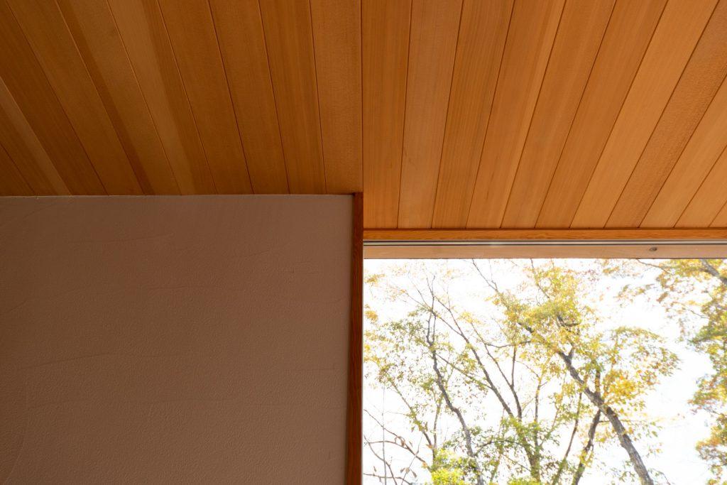 天井と窓枠
