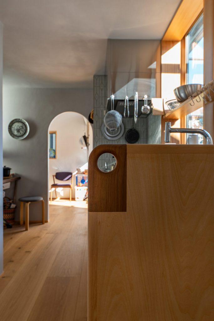 キッチン袖壁